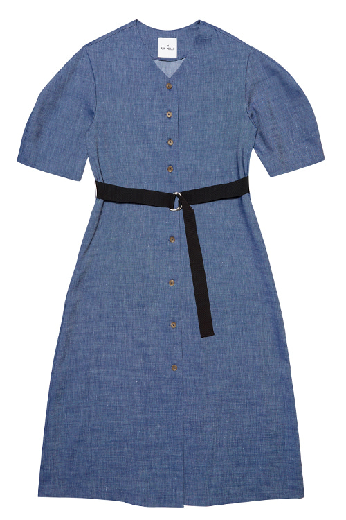 [고원희 착용]5044 Flynn Robe Dress (m/blue)