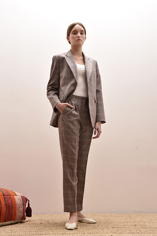 ADS-PTB201-10 CASIOPEA TUCK PANTS (Pink check)