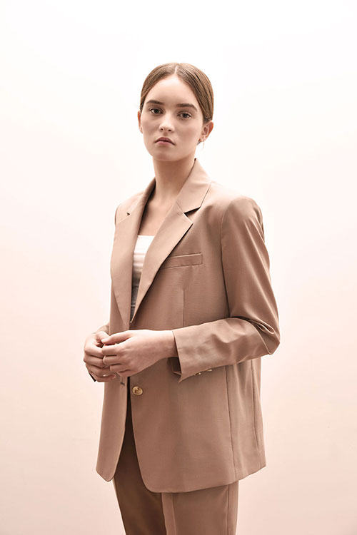 ADS-JKD102-30 AIDEN SINGLE JACKET (Pink beige)